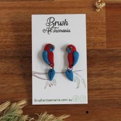 Crimson Rosella Earrings