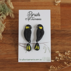 Yellow-tailed Black Cockatoo Earrings