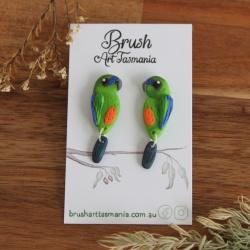 Orange-bellied Parrot Earrings