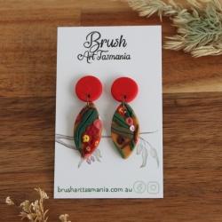 Red Flowering Gum Earrings