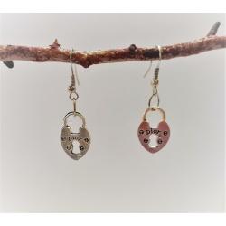 Key to My Heart (Padlock) Dangle Earrings