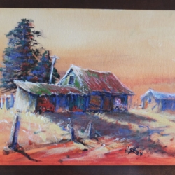 """""""Sunset Sheds"""" Painting"""