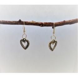 Ornate Heart Dangle Earrings