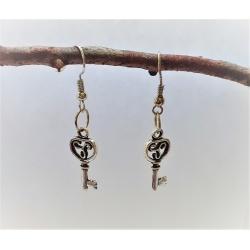 Ornate Keys Dangle Earrings