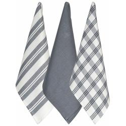 Regal Set of 3 Tea Towels – Grey