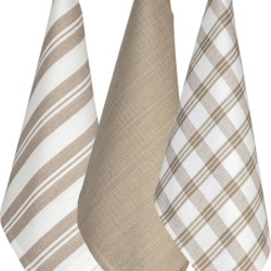 Regal Set of 3 Tea Towels – Taupe