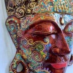 Large Buddha Head Wall Hanging (TBH001)
