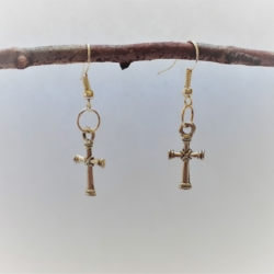 Traditional Cross Dangle Earrings