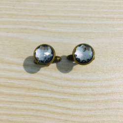 Elegant Faceted Bronze Cuff Links – gift boxed