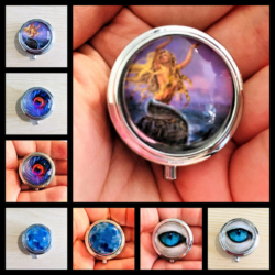 Pretty Single Compartment Pillboxes / Ring Boxes – 4 Designs – Small