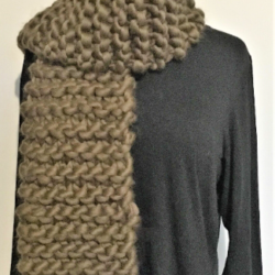 Hand knitted Super Chunky Scarf / Shawl