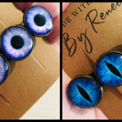 Striking Eye Barrettes – 2 Colours – Suits most hair types