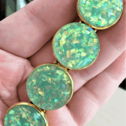 Eye Catching Faux Opal Gold Barrettes – 3 Colours – Suits most hair types