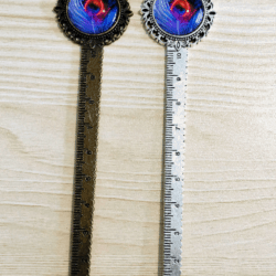 Peacock Feather Bookmark / Letter Opener / Ruler – 2 colours