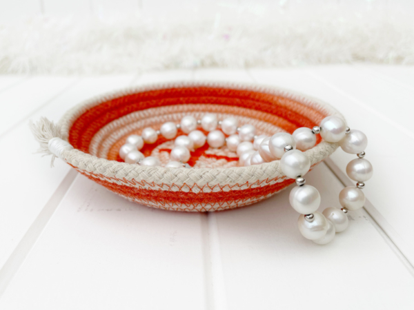 Buster and Coco orange ombre ring dish