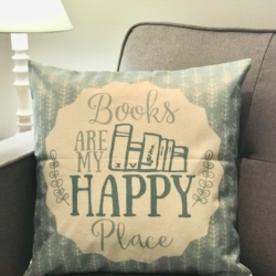 Cushion. Books are my happy place