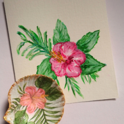Hibiscus Card and Shell