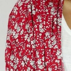 Ruby Blossom Long Kimono Cape