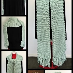 Soft, Warm and Long Chunky Knit Scarf