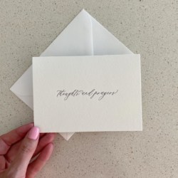 Thoughts and Prayers | Letterpress Greeting Card