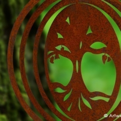 Weathering Steel Collection Wind Spinner – TREE OF LIFE
