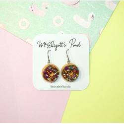 Chocolate donut Dangle Earrings