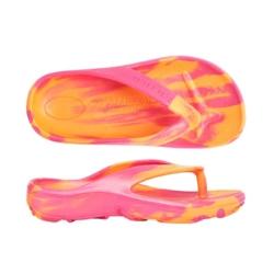 Aussies Soles – Orange/Fuchsia – Size 33 – Starfish Orthotic Thongs Junior