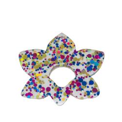 Floral Fantasy Multi Sparkle Glasses Hanger Brooch