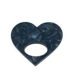 Healing Heat Black Granite Glasses Hanger Brooch