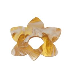 Floral Fantasy Caramel Twist Glasses Hanger Brooch