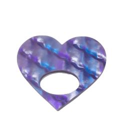 Healing Heart Purple Pattern Glasses Hanger Brooch