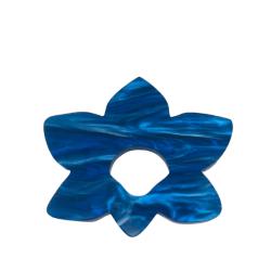 Floral Fantasy Deep Blue Glasses Hanger Brooch