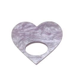 Healing Heart Light Purple Glasses Hanger Brooch