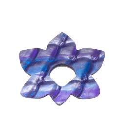 Floral Fantasy Purple Pattern Glasses Hanger Brooch