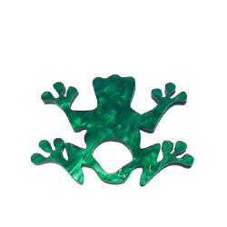 Francesca Frog Glasses Hanger Brooch