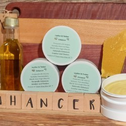 Leather and Timber Enhancer (Polish) – all natural handmade by Dawn View Olive Oil