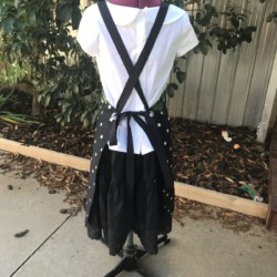 Roses are red. BBQ Apron, Full Bib Cross Back Apron. Black or Navy background.