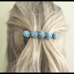Pretty Flower Hair Barrettes / Hair Clips – 2 Colours – Suits most hair types
