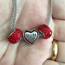 Pretty 'Mum' Mother's Day Theme Stainless Steel Mesh Necklace – Gift Boxed – #2