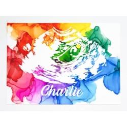 Ultrasound Art in Rainbow
