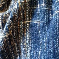 Handwoven Natural Dyed Cotton Scarf – Wild Blue Indigo