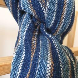 Handwoven Natural Dyed Cotton Scarf – Simply Blue Indigo