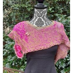 Hot pink and green shawl