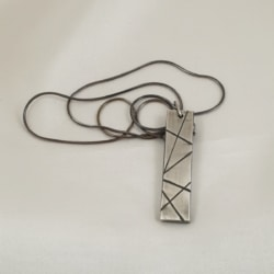 Oxidised Sterling Silver Pendant on 40cm Snake Chain
