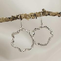 Sterling Silver Earrings with a Twist