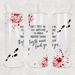 True Crime 20oz Stainless Steel Printed Tumbler Cup Travel Mug