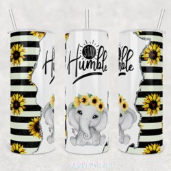 Stay Humble 20oz Stainless Steel Printed Tumbler Cup Travel Mug