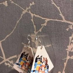 Bluey family leather earrings