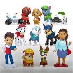 Paw Patrol #2 cake topper/figurine set 12pc