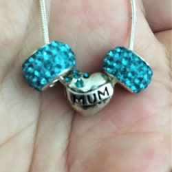 Pretty 'Mum' Mother's Day Theme Snake Necklace – Gift Boxed – #6